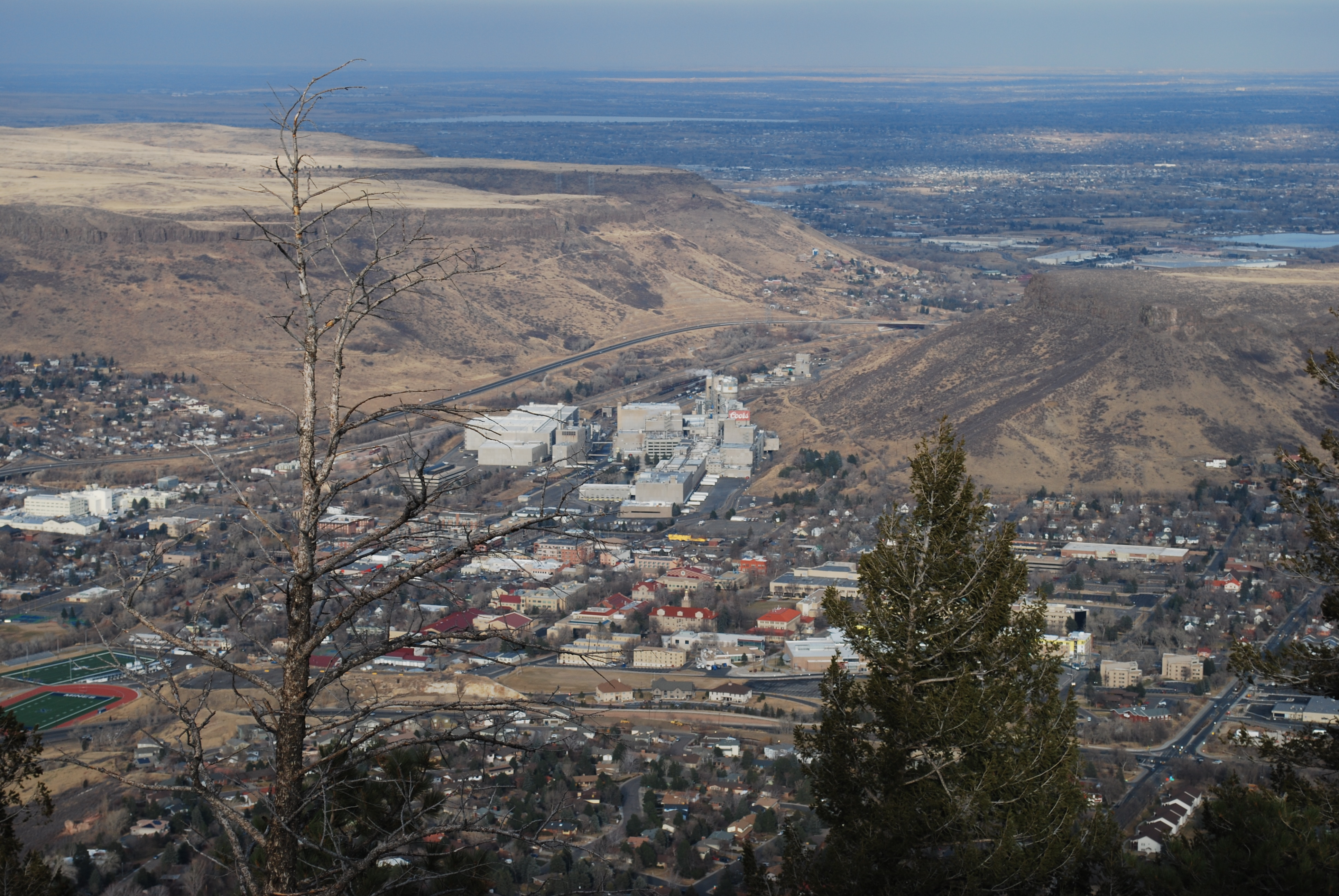 View Of The Coors Brewery From Lookout Mountain