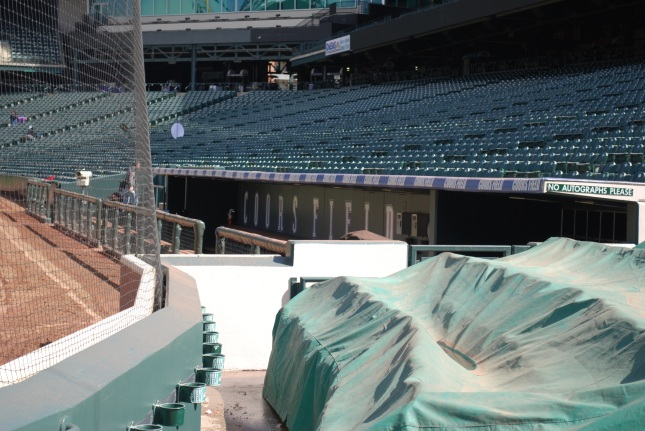 Picture taken on tour of field--dugout